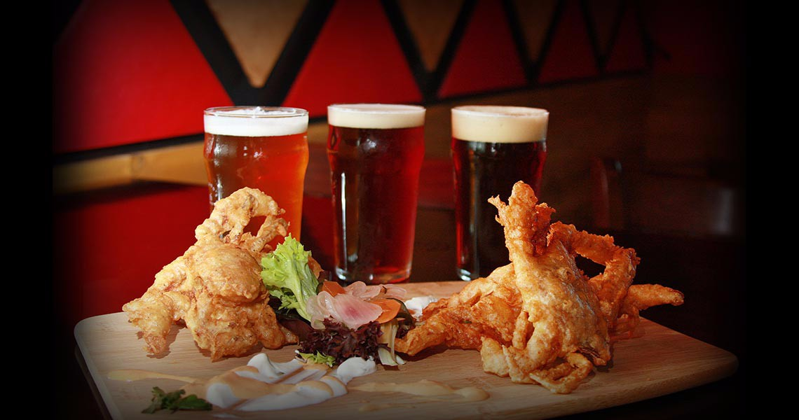 Softshell Crab and Beer